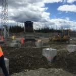 Substation: backfill work (May 2016)