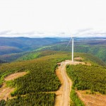 Wind turbine #47 viewed from top of wind turbine #46