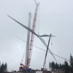 Rotor erection at wind turbine 43