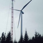 Wind turbine #34 erected