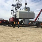 Unloading of a nacelle