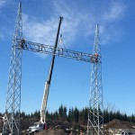 Substation: Erection of structural steel for 230kV portal frame (May 2016)